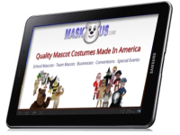 MaskUS.com on an Tablet